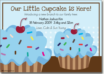 Cupcake Blue - Graphic Card