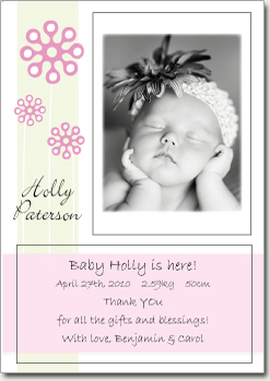 Periwinkle Pink Portrait Card