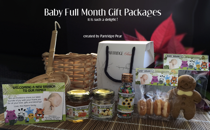 Partridge pear personalised baby full month gift full month cakes organic lollipops negle Gallery